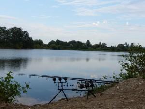 Momentka z 5ha jazera, kde som prvy krát skúšal produkty TB & F