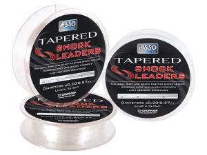 asso tapered shock leader black label