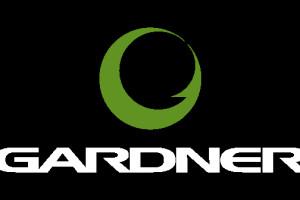 Gardner Logo vert on black